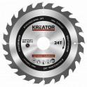 Kreator KRT020414 - Pilový kotouč na dřevo 185mm, 24T