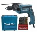 Makita HP1641K1X příklepová vrtačka s kufrem, rychlosklíčidlo + PRODLOUŽENÁ ZÁRUKA 36 MĚSÍCŮ