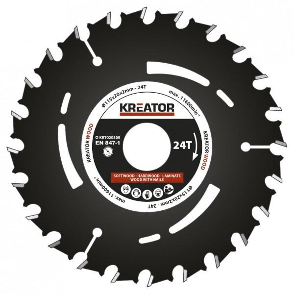 Kreator KRT020305 - Pilový kotouč pro ponorné pily 115mm, 24T