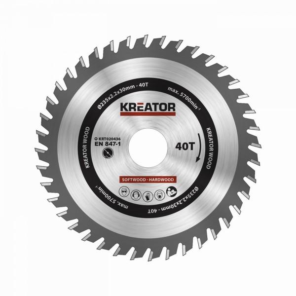 Kreator KRT020436 - Pilový kotouč na dřevo 235mm 40T