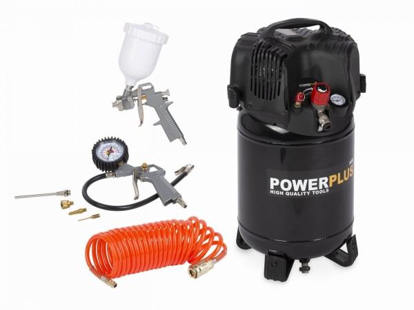 PowerPlus POWX1731 - Kompresor 1100W 24L + 7 ks přísl. bezolejový + PRODLOUŽENÁ ZÁRUKA 36 MĚSÍCŮ