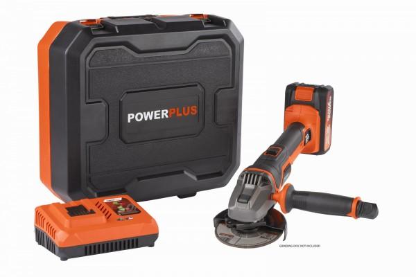 PowerPlus POWDP35150 - Aku úhlová bruska 20V 115mm SET + PRODLOUŽENÁ ZÁRUKA 36 MĚSÍCŮ
