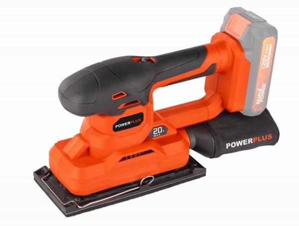 PowerPlus POWDP50300 - Aku vibrační bruska 20V (bez AKU) + PRODLOUŽENÁ ZÁRUKA 36 MĚSÍCŮ
