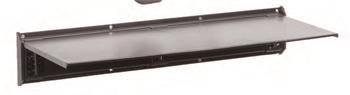 Závěsný systém G21 BlackHook small shelf 60x20x9 cm