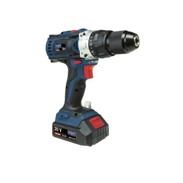 Scheppach CSD40-20Li aku 20V dvourychlostní vrtací šroubovák + 2x baterie 2 Ah + nabíječka + kufr + PRODLOUŽENÁ ZÁRUKA 48 MĚSÍCŮ