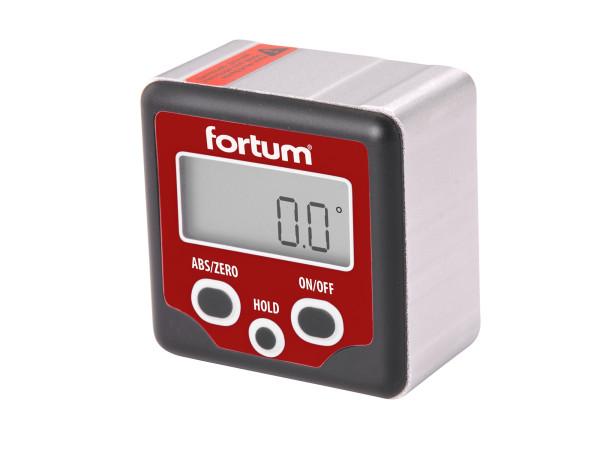 Fortum - sklonoměr digitální, 0°-360°, s magnety