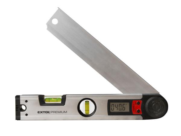 Extol Premium - vodováha s digitálním úhloměrem, 305mm