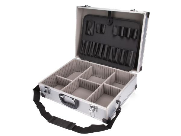 Extol Craft - kufr na nářadí hliníkový 460x330x150mm, stříbrná barva