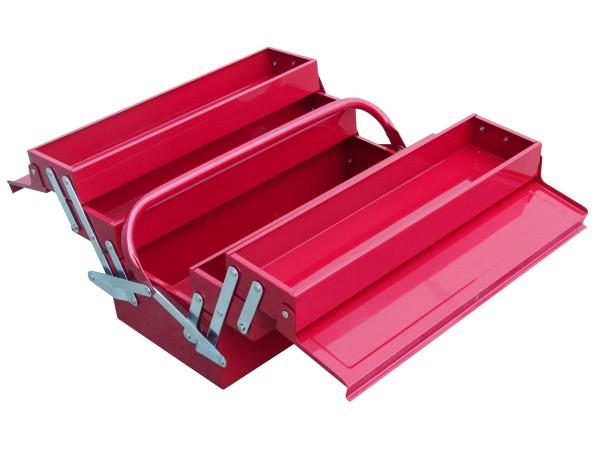 Extol Craft - kufr na nářadí kovový, 400x200x195mm, 5 přihrádek