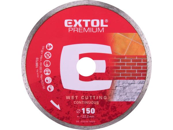 Levně Extol Premium 108733 kotouč diamantový řezný celoobvodový, 150x22,2 mm