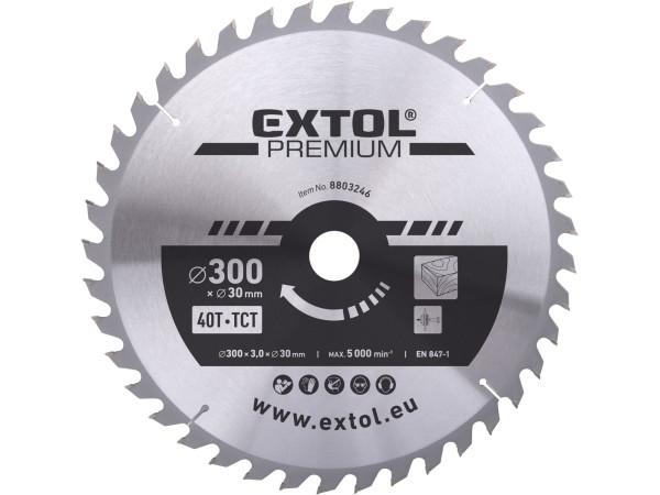 Extol Premium 8803246 kotouč pilový s SK plátky 300x2,2x30 mm, 40T