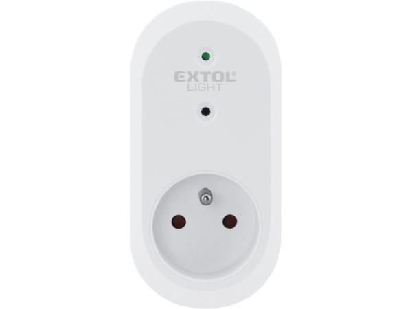 Extol Light 43802 zásuvka dálkově ovládaná, 2ks, rozšiřující sada, dosah 30m