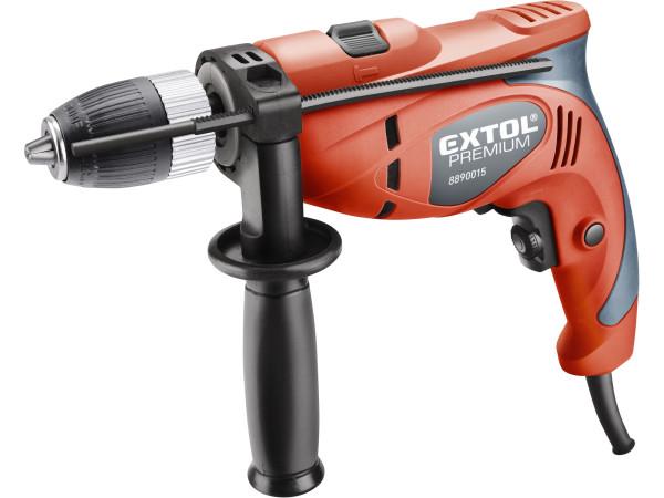 Extol Premium 8890015 vrtačka s příklepem, Click-lock, 500W