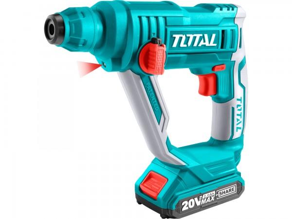 Total TRHLI1601 kladivo vrtací, 20V Li-ion, SDS plus, 1.5J, bez baterie a nabíječky